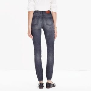 """Madewell 9"""" High Rise Skinny Gray Jeans"""